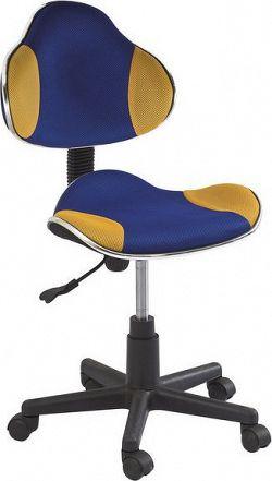 Casarredo Kancelářská židle Q-G2 modrá/žlutá