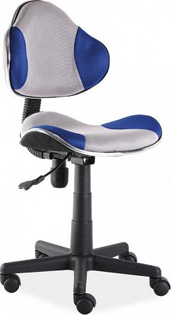 Casarredo Kancelářská židle Q-G2 šedá/modrá
