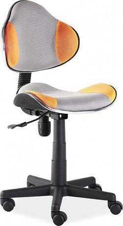 Casarredo Kancelářská židle Q-G2 šedá/oranžová