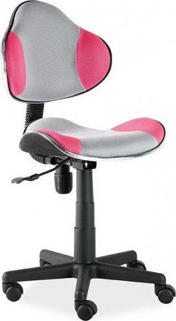 Casarredo Kancelářská židle Q-G2 šedá/růžová
