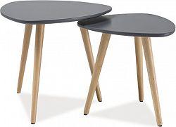 Casarredo Konferenční stolky - komplet NOLAN A šedá/buk
