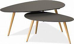 Casarredo Konferenční stolky - komplet NOLAN B šedý