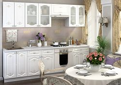 Casarredo Kuchyně CHARLIZE  - bílá se vzorem