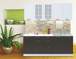 Casarredo Kuchyně PRAGA  bílá/wenge
