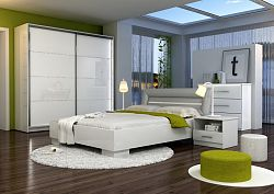 Casarredo Ložnice MALAGA (postel 160, skříň, komoda, 2 noční stolky)