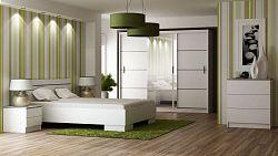 Casarredo Ložnice VISTA bílá (postel 160, skříň, komoda, 2 noční stolky)