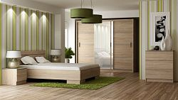 Casarredo Ložnice VISTA sonoma (postel 160, skříň, komoda, 2 noční stolky)