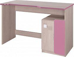 Casarredo Pracovní stůl DUO D6 santana/růžová