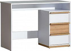 Casarredo Pracovní stůl EVADO E14 bílá/ořech