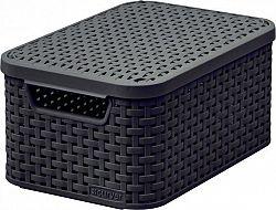 Curver Box s víkem STYLE - S - tm.hnědý