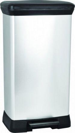 Curver Odpadkový koš DECOBIN 50L - stříbrný