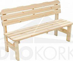 Deokork Masivní dřevěná zahradní lavice z borovice dřevo 32 mm