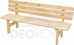 Deokork Masivní lavice z borovice dřevo 30 mm (různé délky) -200 cm