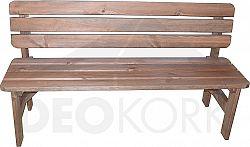 Deokork Masivní lavice z borovice dřevo mořené 30 mm (různé délky) -200 cm