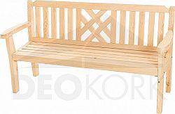 Deokork Masivní zahradní lavice z borovice ROMANTIC (32 mm)