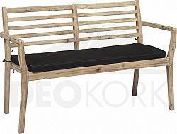 Deokork Zahradní lavice s polstrem CHESTERFIELD (bělená akácie)