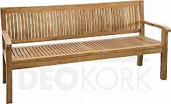 Deokork Zahradní lavice teak KINGSBURY