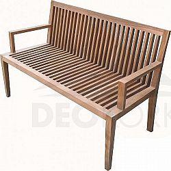 Deokork Zahradní teaková lavice WELLS