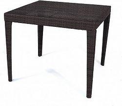 Dimenza Zahradní jídelní stůl Dallas 90x - hnědý