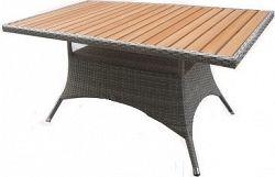 Dimenza Zahradní jídelní stůl RIMINI 150x - šedohnědý
