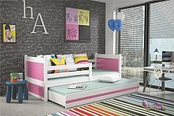 Falco Dětská postel Riky II  - bílá/růžová