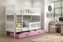 Falco Patrová postel Kuba bílá/růžová