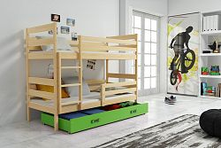 Falco Patrová postel Norbert borovice/zelená