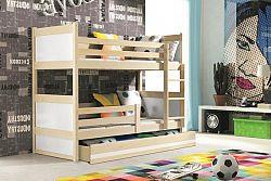 Falco Patrová postel Riky borovice/bílá