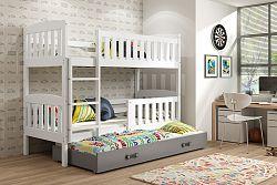 Falco Patrová postel s přistýlkou Kuba bílá/grafit