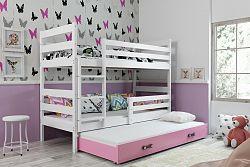 Falco Patrová postel s přistýlkou Norbert bílá/růžová