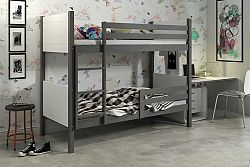 Falco Patrová postel Tony grafit/bílá