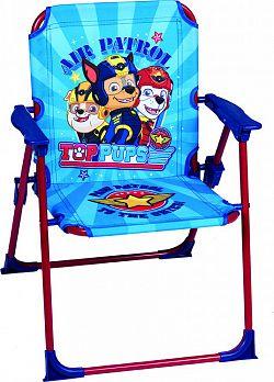 Forclaire Dětská campingová židlička Tlapková patrola - modrá