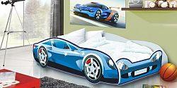 Forclaire Dětská postel Auto Speedy modrý model