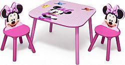 Forclaire Dětský stůl s židlemi myška Minnie II