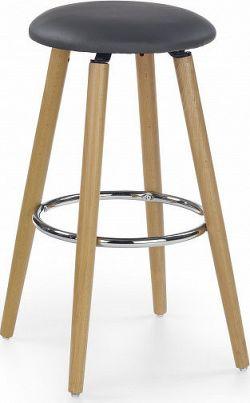 Halmar Barová židle H-76 F - látka světle šedá