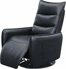 Halmar Relaxační křeslo ROYAL, černá eko kůže