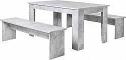 Idea Jídelní sestava MUNCHEN 140 beton