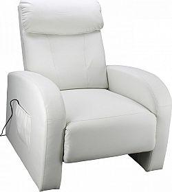 Idea Masážní křeslo TOLEDO krémově bílé K70