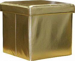 Idea Sedací úložný box zlatý
