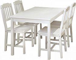 Idea Stůl + 4 židle 8849 bílý lak