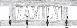 Idea Věšák FAMILY bílý antik