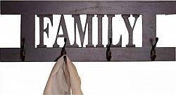Idea Věšák FAMILY hnědý