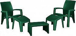 Rojaplast Zahradní set LAGO MAXI RELAX SET BOX - zelený