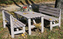 Rojaplast Zahradní stůl VIKING ŠEDÝ - 150 cm
