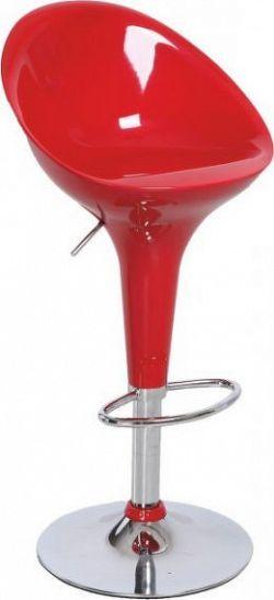 Tempo Kondela Barová židle ALBA NOVA - chrom / červená