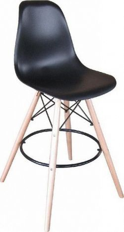 Tempo Kondela Barová židle CARBRY - černá/kov + kupón KONDELA10 na okamžitou slevu 10% (kupón uplatníte v košíku)