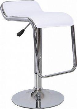 Tempo Kondela Barová židle ILANA - bílá ekokůže / chrom + kupón KONDELA10 na okamžitou slevu 10% (kupón uplatníte v košíku)