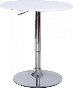 Tempo Kondela Barový stůl BRANY - chrom / bílá + kupón KONDELA10 na okamžitou slevu 10% (kupón uplatníte v košíku)