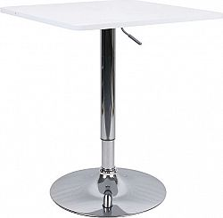 Tempo Kondela Barový stůl s nastavitelnou výškou, bíla, FLORIAN NEW + kupón KONDELA10 na okamžitou slevu 3% (kupón uplatníte v košíku)