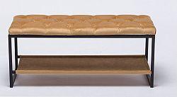 Tempo Kondela Designová lavice, černý kov / béžová látka 5, VIKAR + kupón KONDELA10 na okamžitou slevu 10% (kupón uplatníte v košíku)